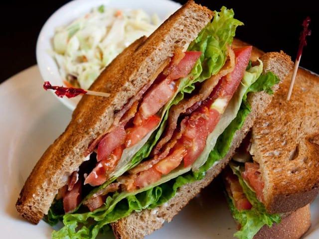 Fresh Sandwich and Cole Slaw