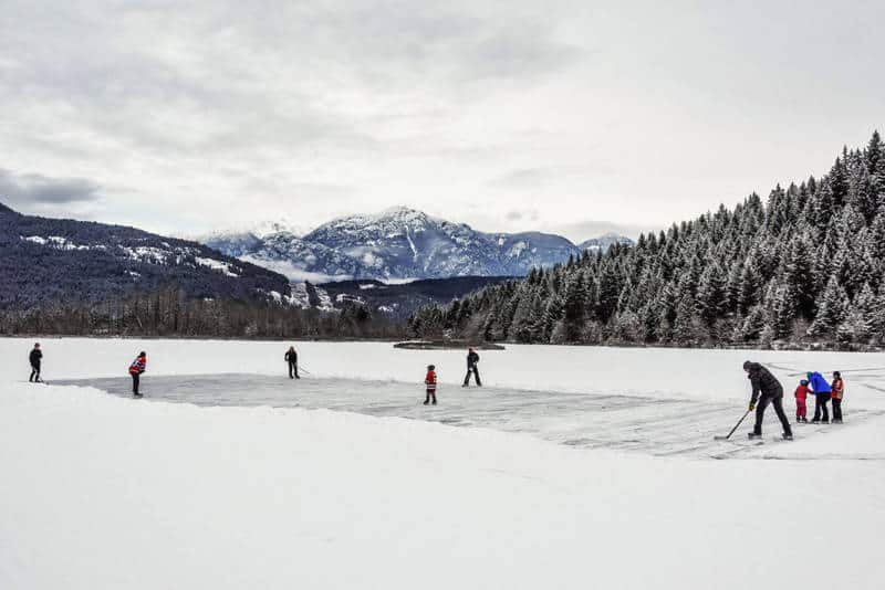Ice Hockey One Mile Lake