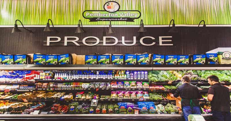 Pemberton Valley Supermarket Produce Section